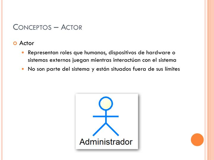 Conceptos – Actor