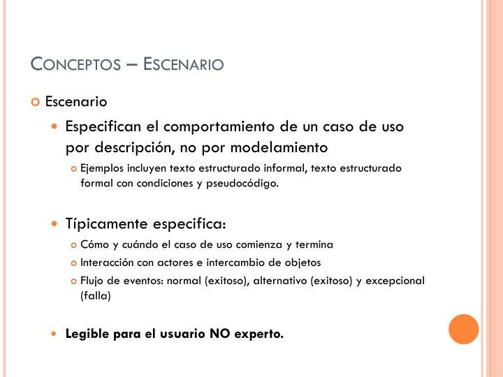 Conceptos – Escenario