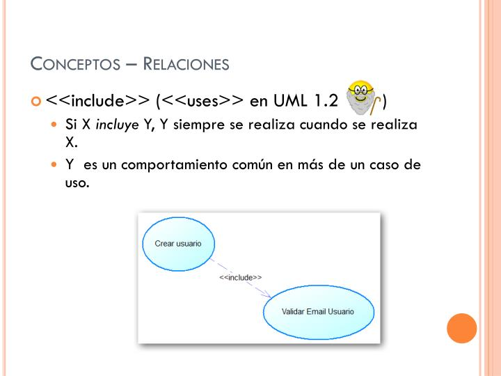 Conceptos – Relaciones