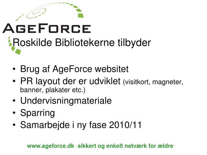 Roskilde Bibliotekerne tilbyder
