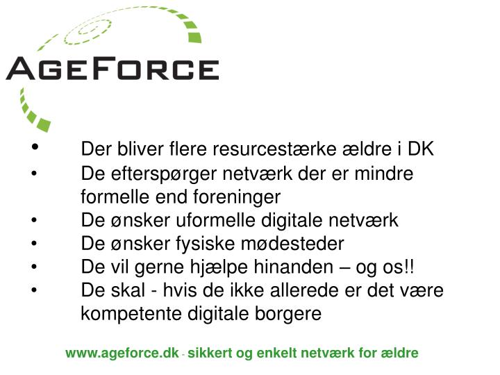 Der bliver flere resurcestærke ældre i DK