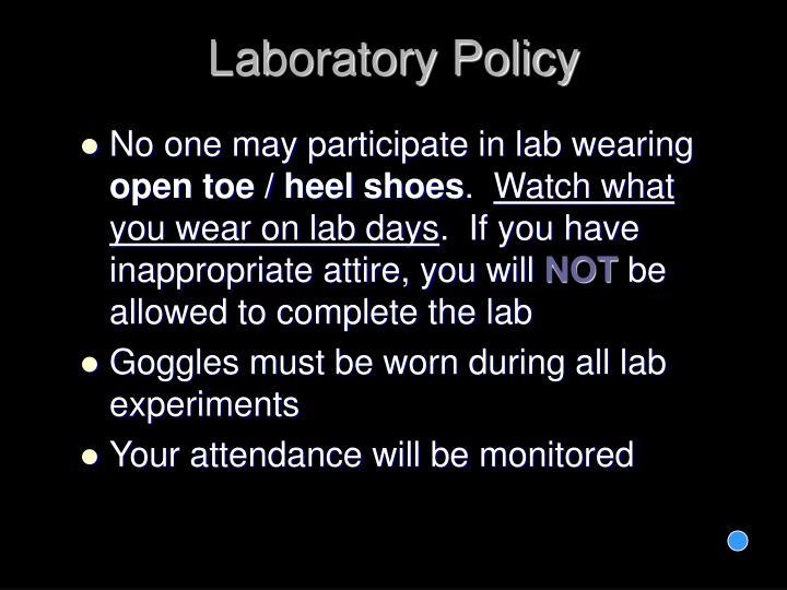 Laboratory Policy