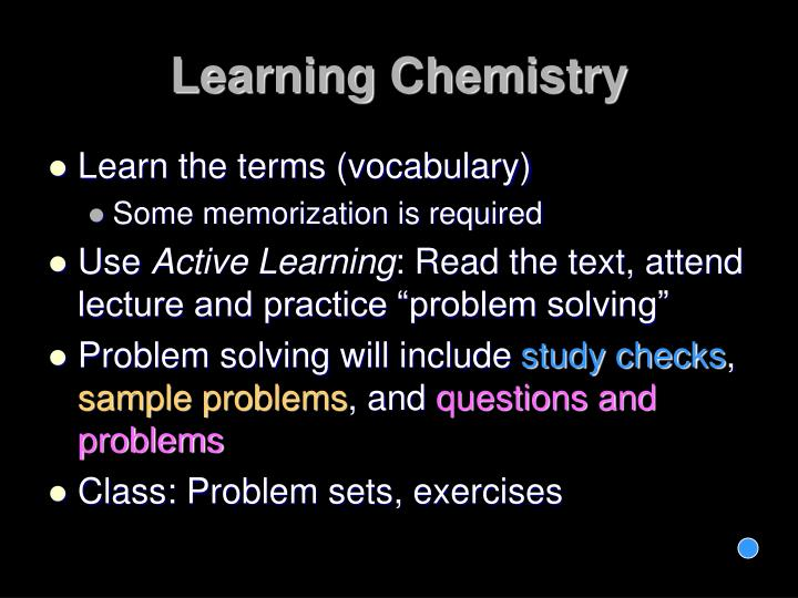 Learning Chemistry