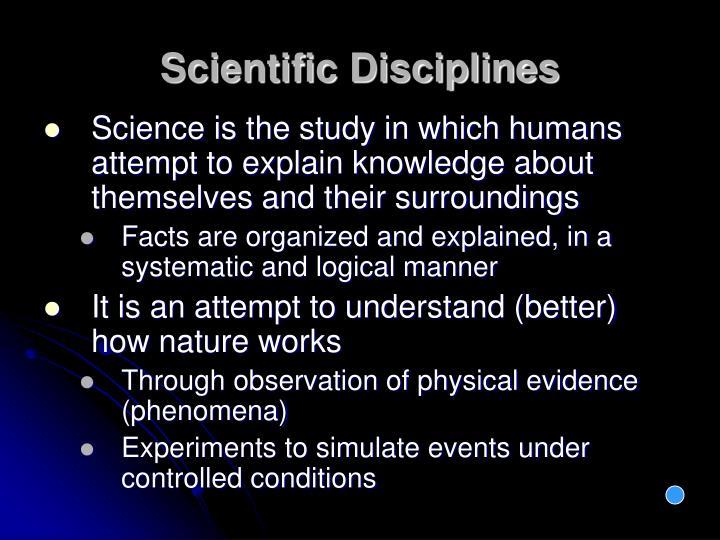 Scientific Disciplines