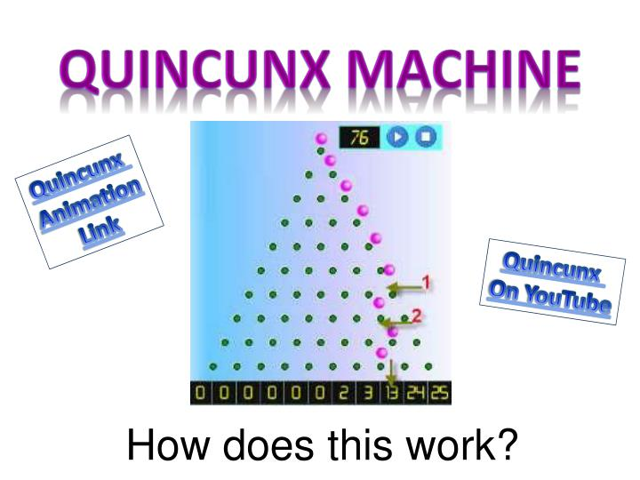 Quincunx machine