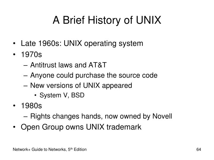 A Brief History of UNIX