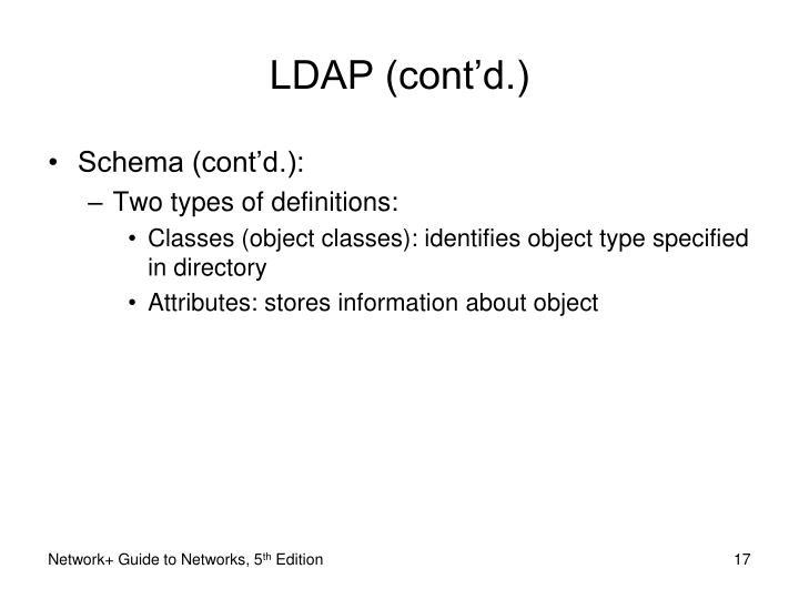 LDAP (cont'd.)