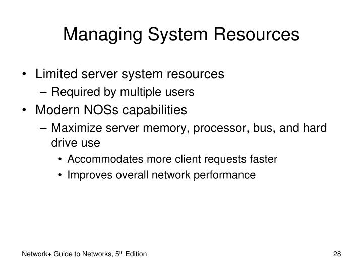 Managing System Resources