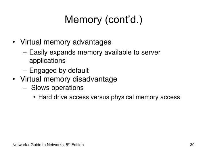 Memory (cont'd.)