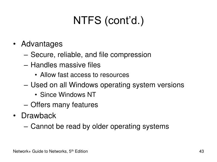 NTFS (cont'd.)