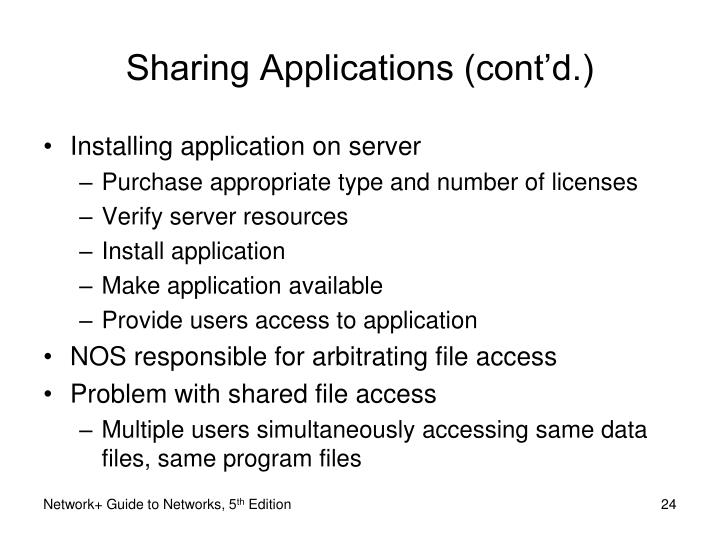 Sharing Applications (cont'd.)