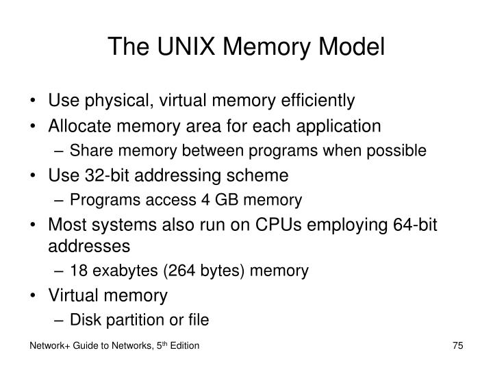 The UNIX Memory Model