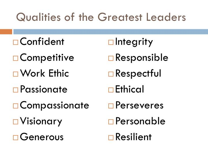 Qualities of the Greatest Leaders