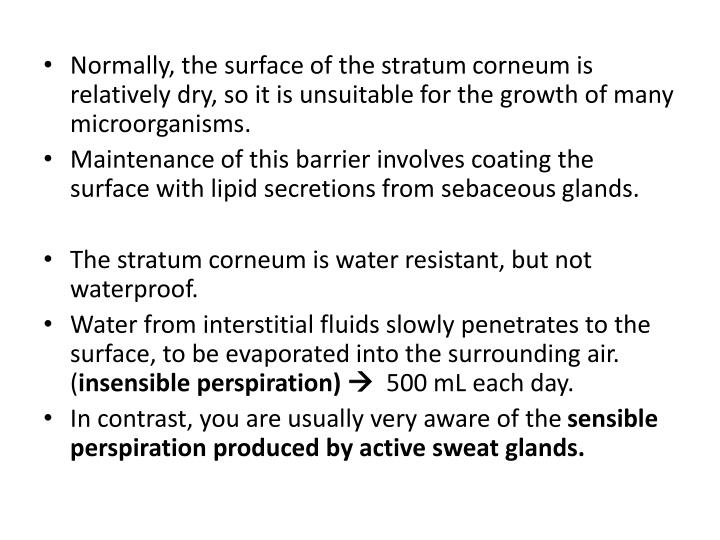 Normally, the surface of the stratum