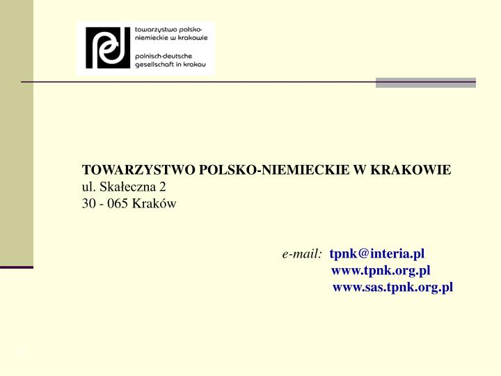 TOWARZYSTWO POLSKO-NIEMIECKIE W KRAKOWIE