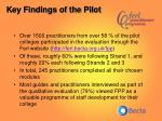 key findings of the pilot