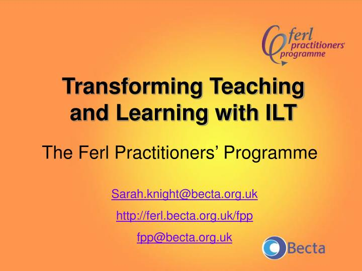 The Ferl Practitioners' Programme