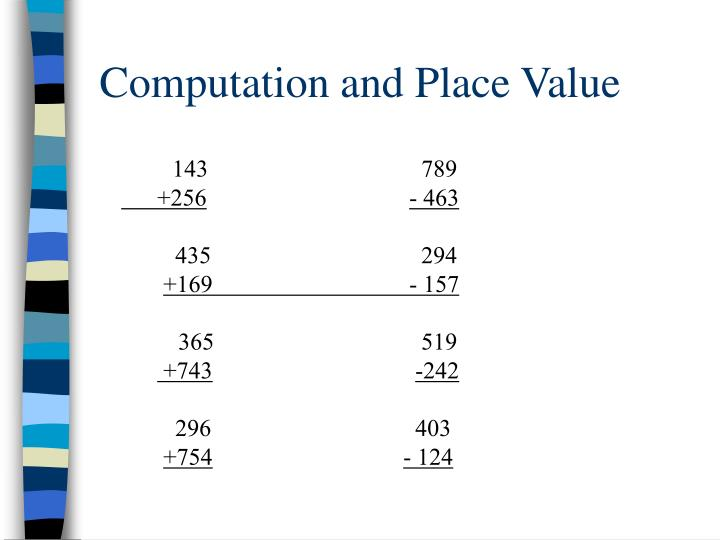 Computation and Place Value