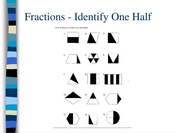 Fractions - Identify One Half