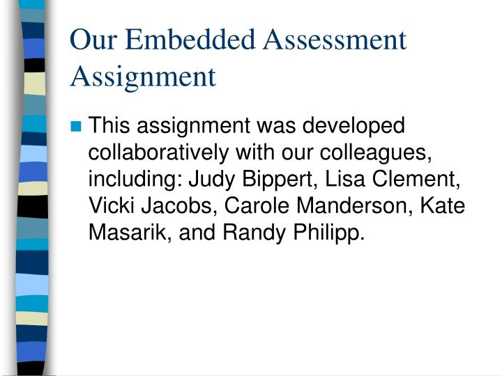 Our Embedded Assessment Assignment
