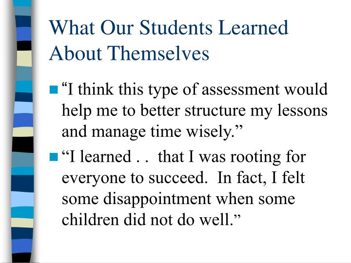 What Our Students Learned About Themselves