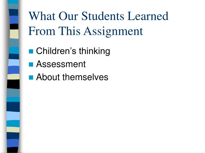 What Our Students Learned From This Assignment