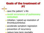 goals of the treatment of pt