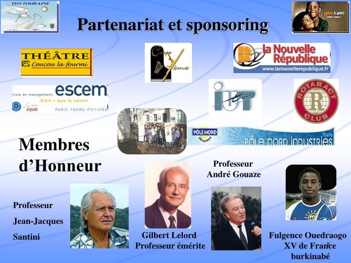 Partenariat et sponsoring