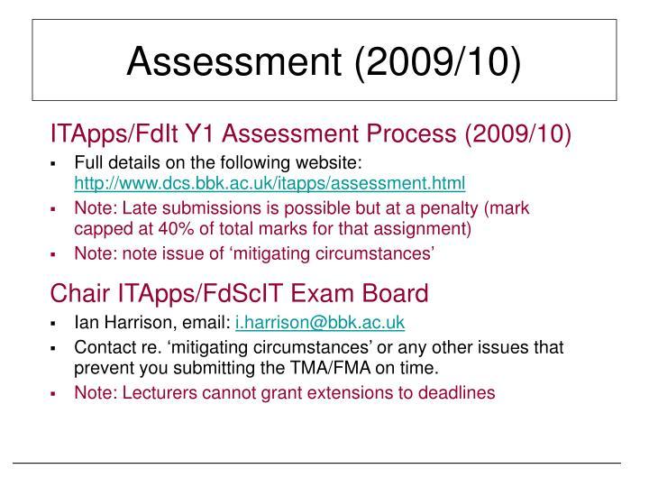 Assessment (2009/10)