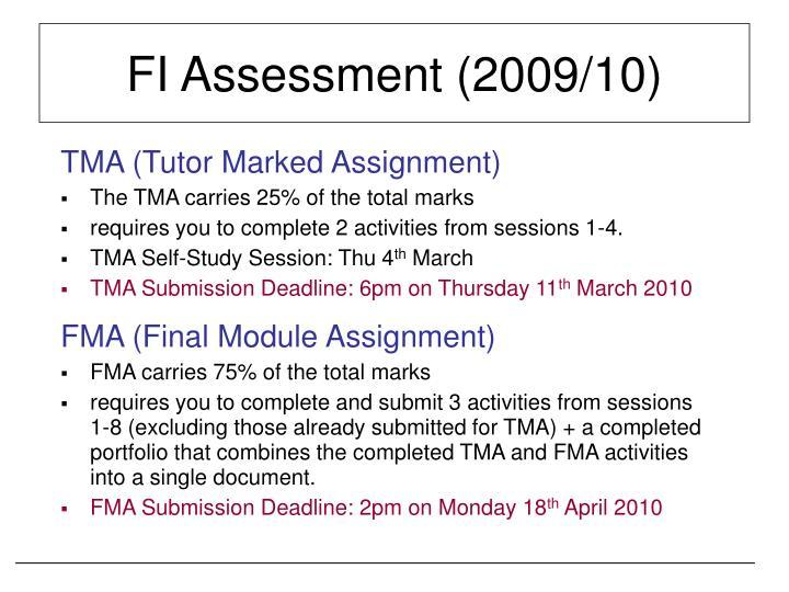 FI Assessment (2009/10)