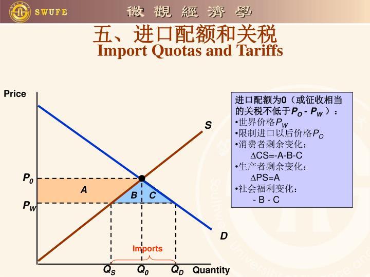 五、进口配额和关税