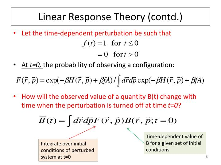 Linear Response Theory (contd.)
