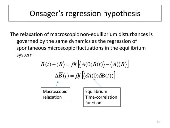 Onsager's regression hypothesis