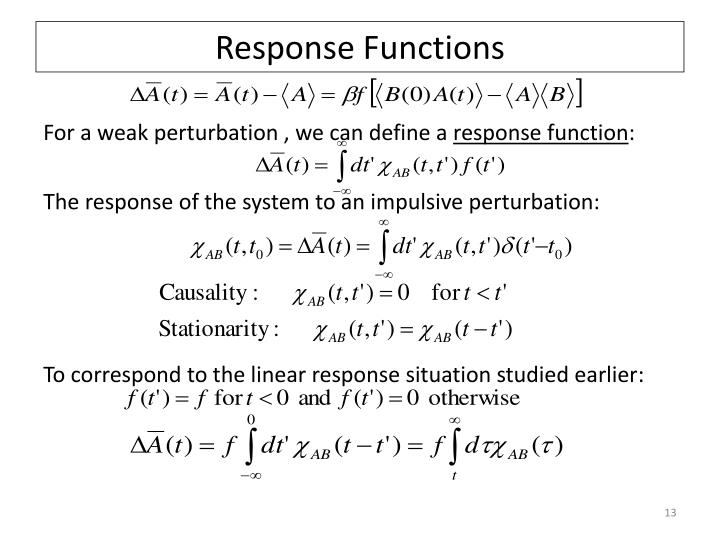 Response Functions