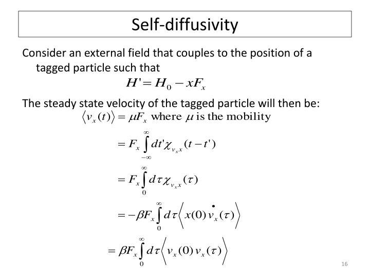 Self-diffusivity