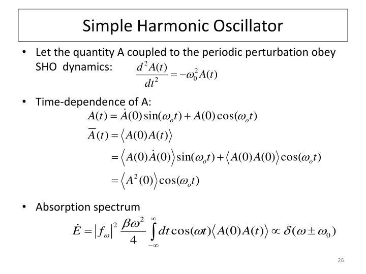 Simple Harmonic Oscillator
