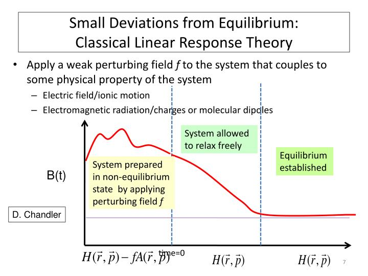 Small Deviations from Equilibrium: