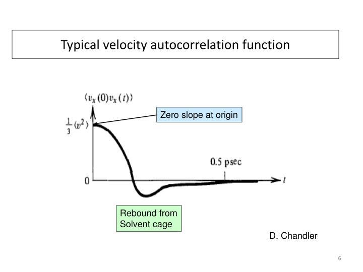 Typical velocity autocorrelation function