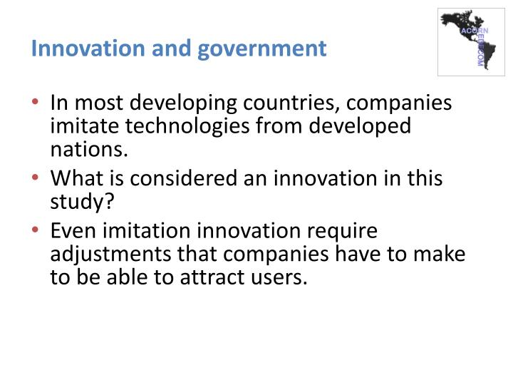 Innovation and government