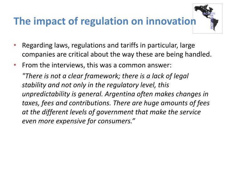The impact of regulation on innovation