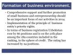 formation of business environment