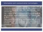 information and communication technologies1