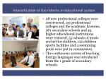 intensification of the reforms in educational system