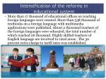 intensification of the reforms in educational system1