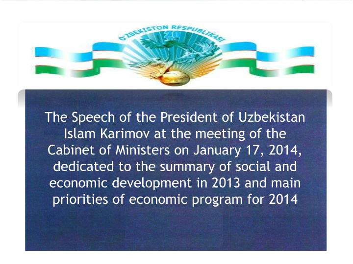 The Speech of the President of Uzbekistan Islam
