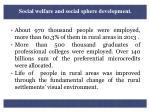 social welfare and social sphere development