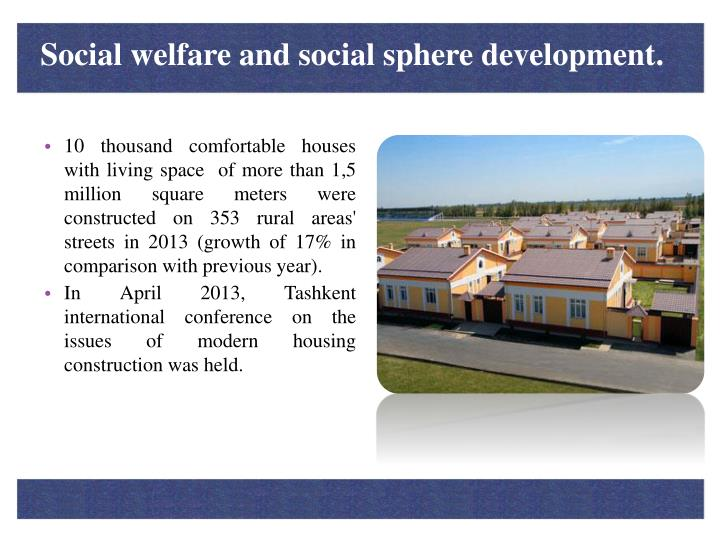 Social welfare and social sphere development