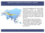 special industrial economic zones