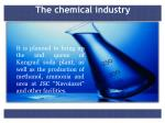 the chemical industry
