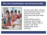 the role of small business and entrepreneurship